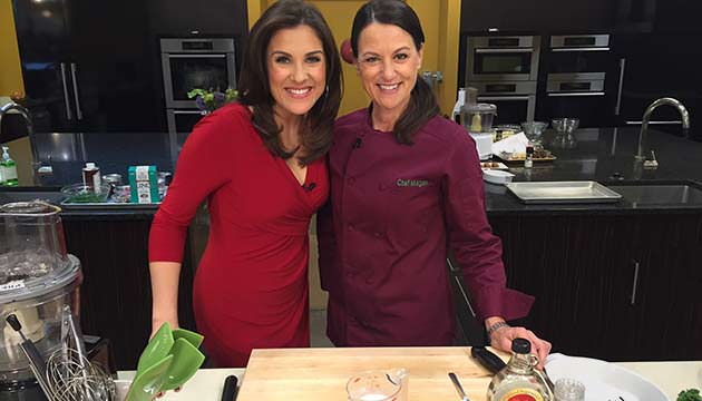CHef Megan on HLN Cooking Show