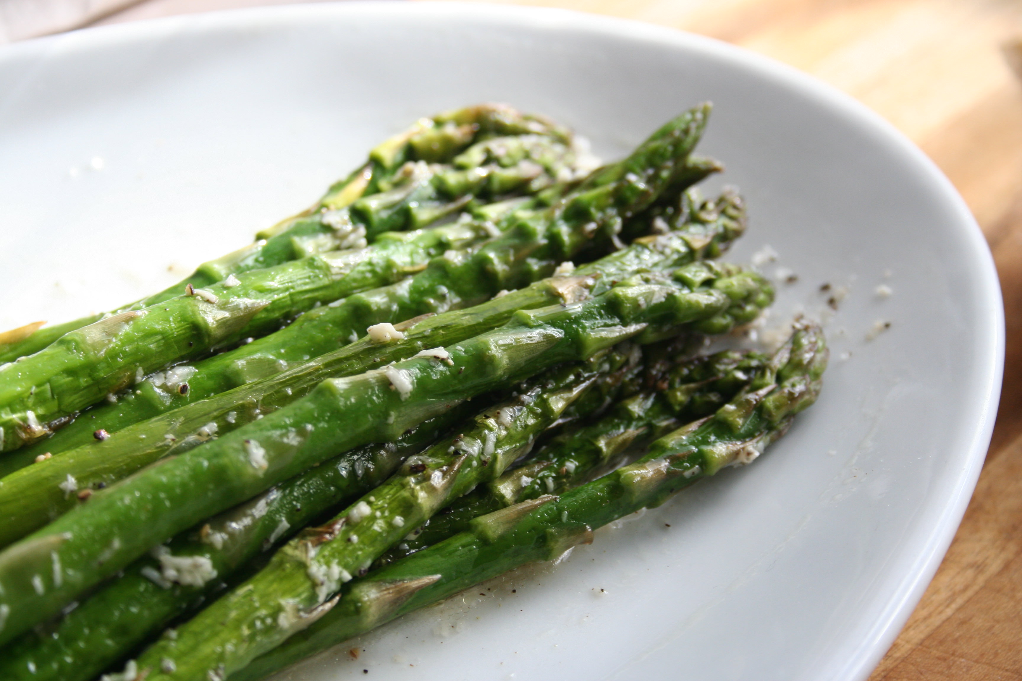 Spring Roasted Asparagus with Asiago Lemon Pepper