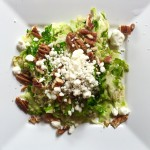 Brussels Sprouts with Toasted Pecans and Goat Cheese