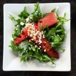Grilled Watermelon and Arugula Salad
