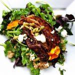 Kale Arugula Salad with Roasted Radicchio